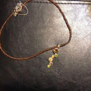 Lia Sophia Root Beer necklace